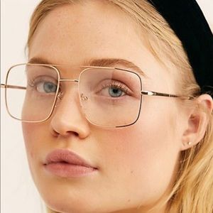 Free People Cool Grandpa Aviator Neutral Clear NIP